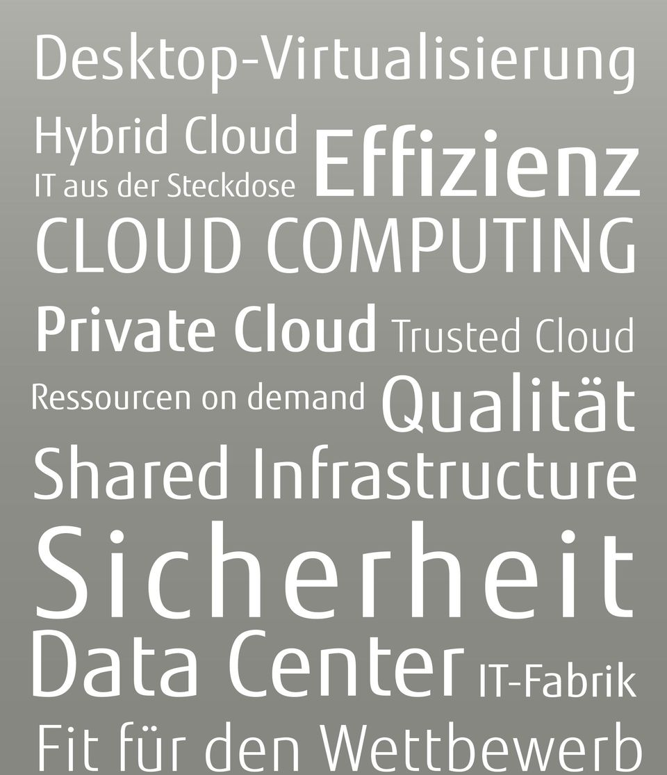Trusted Cloud Ressourcen on demand Qualität Shared