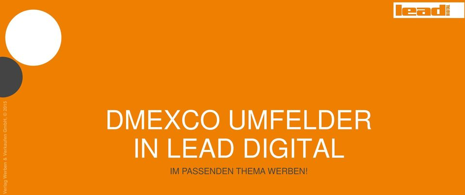 DMEXCO UMFELDER IN LEAD