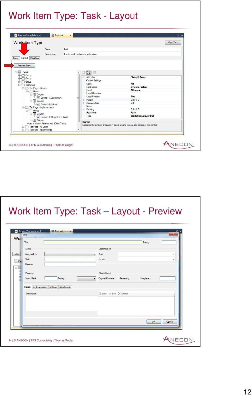 Work Item Type: Task Layout - Preview