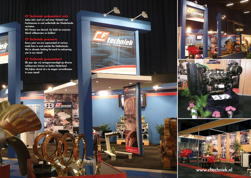 CF Techniek presents Every year we are represented at various trade fairs in and outside the Netherlands.