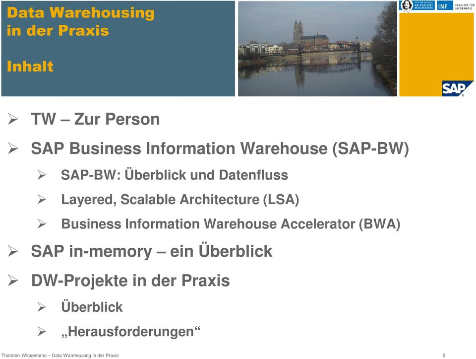 Business Information Warehouse Accelerator (BWA) SAP in-memory ein Überblick