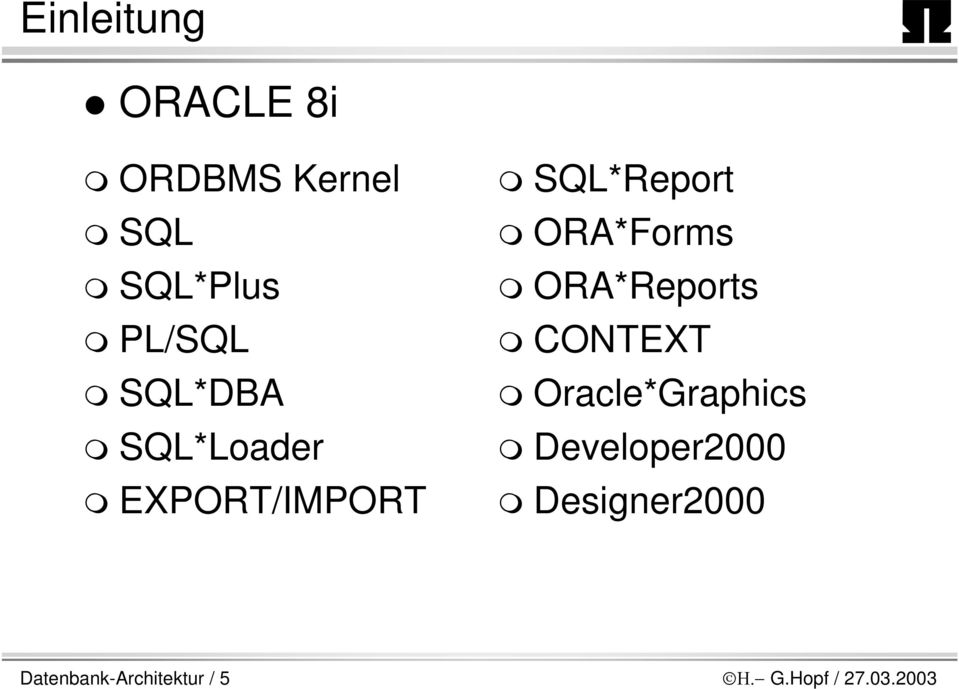 ORA*Reports CONTEXT Oracle*Graphics Developer2000