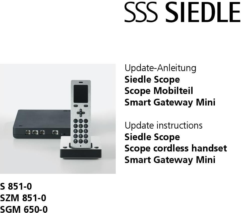 instructions Siedle Scope Scope cordless