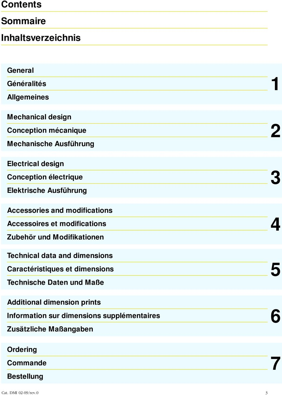 modifications Zubehör und Modifikationen Technical data and dimensions Caractéristiques et dimensions und Maße dditional