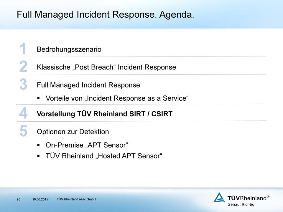 Managed Incident Response Vorteile von Incident Response as a Service