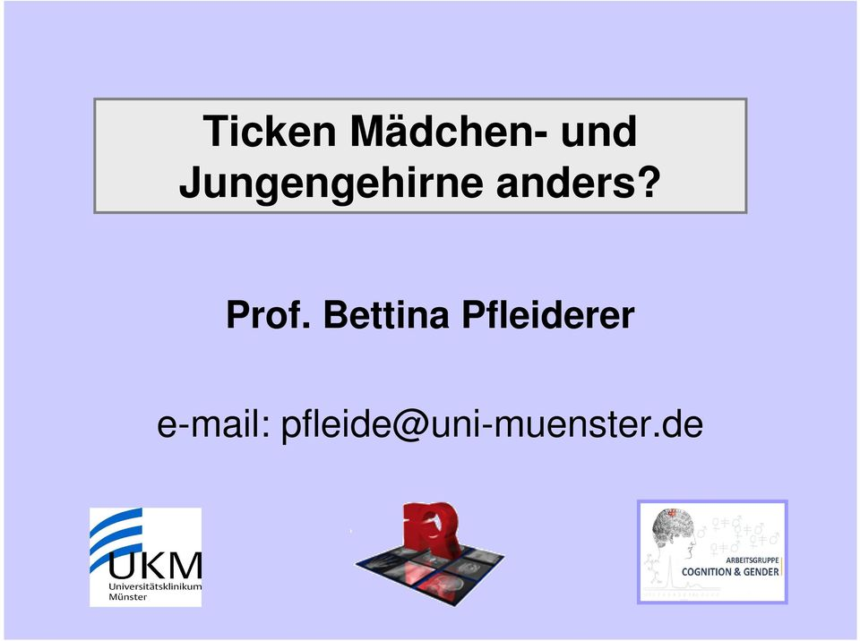 Prof. Bettina Pfleiderer