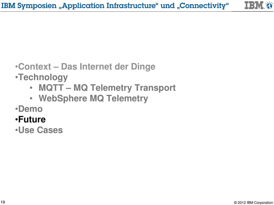 Telemetry Transport WebSphere