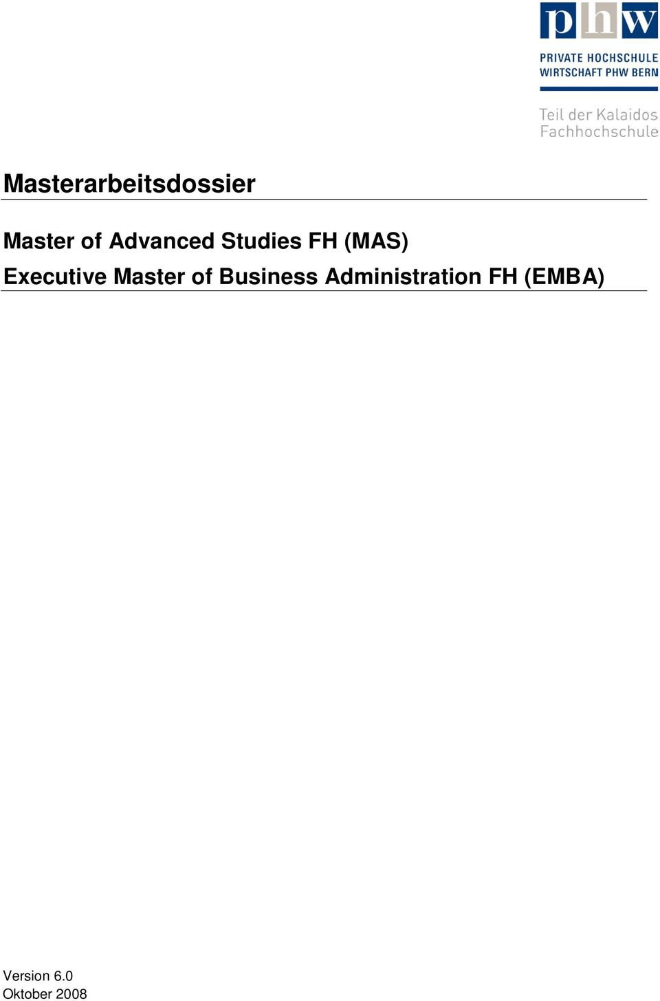 Executive Master of Business