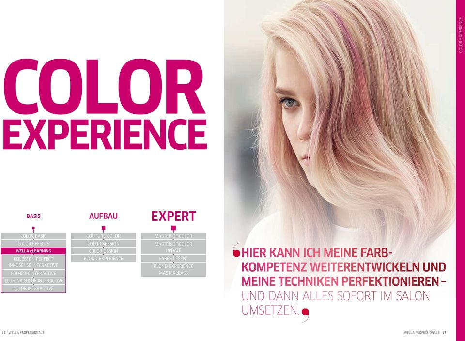 id Interactive Illumina COLOR Interactive Color Interactive 16 wella Professionals Blond Experience Masterclass Hier kann