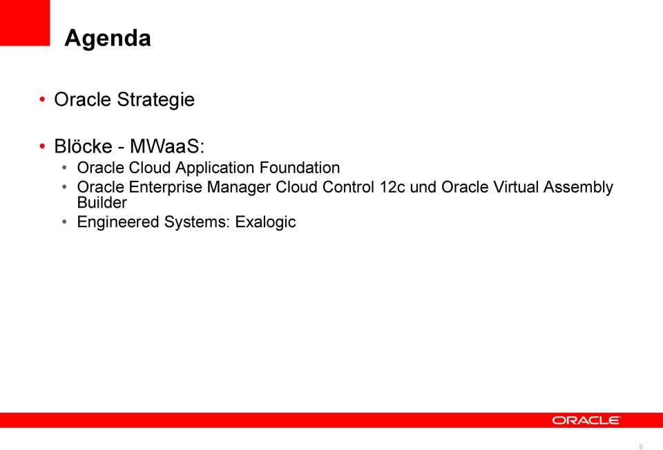 Manager Cloud Control 12c und Oracle Virtual
