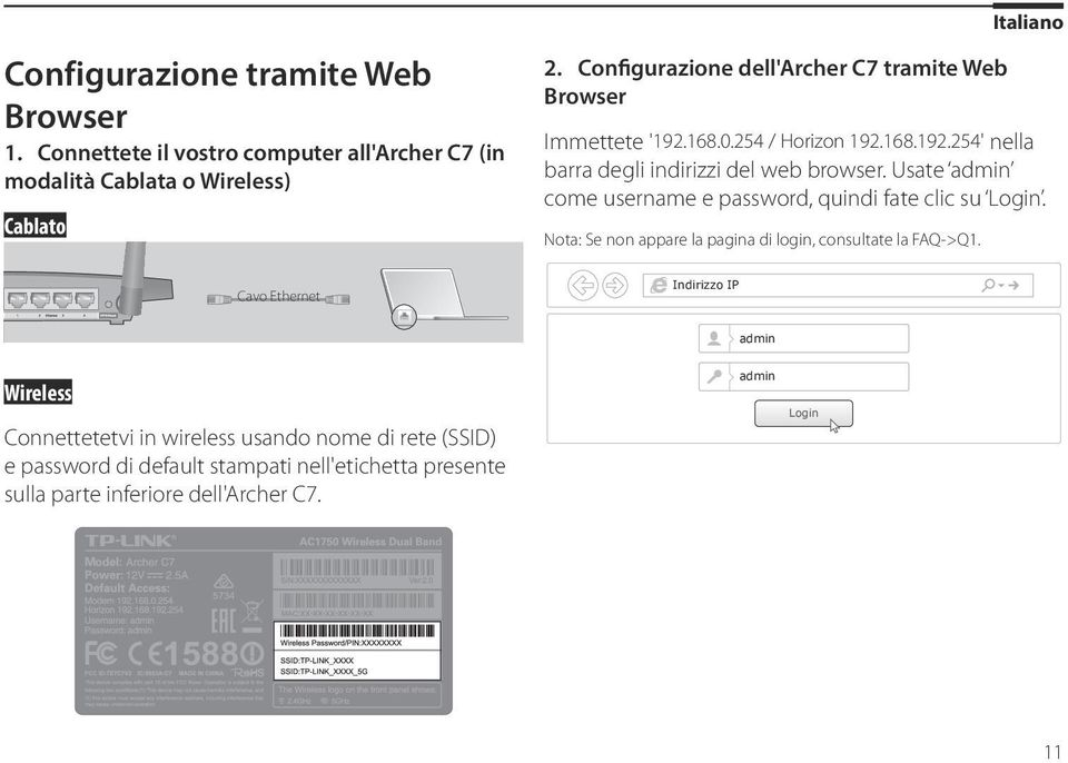 Usate come username e password, quindi fate clic su Login. Nota: Se non appare la pagina di login, consultate la FAQ->Q1.