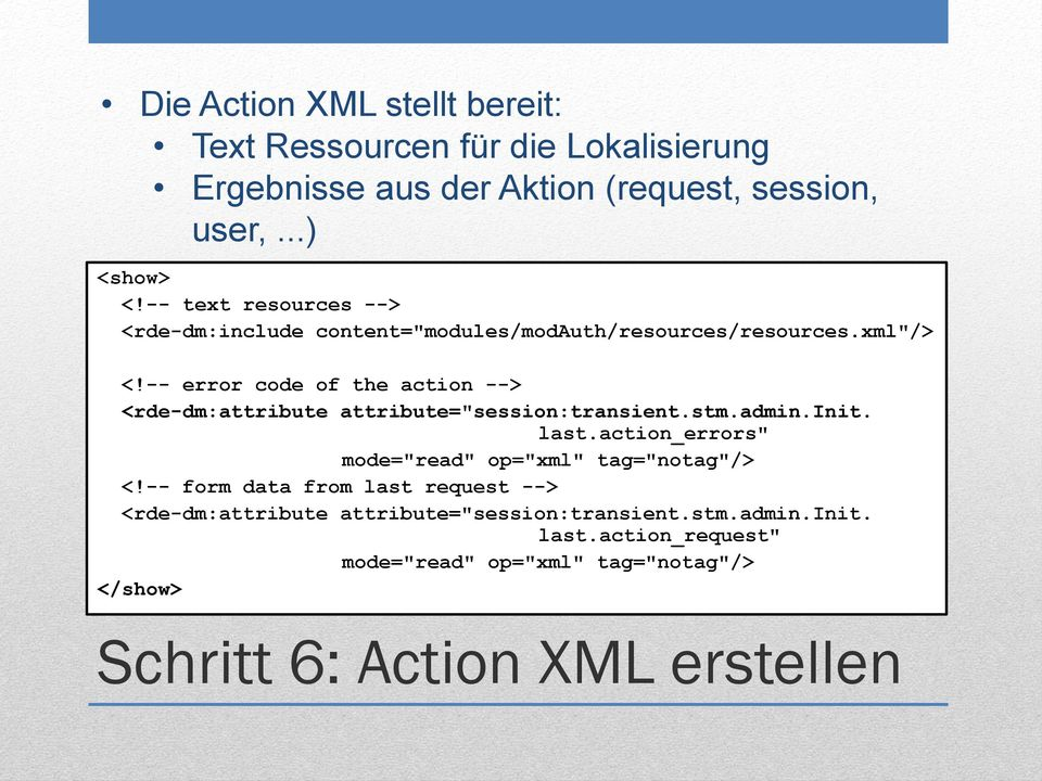 "-- error code of the action --> <rde-dm:attribute attribute=""session:transient.stm.admin.init. last."