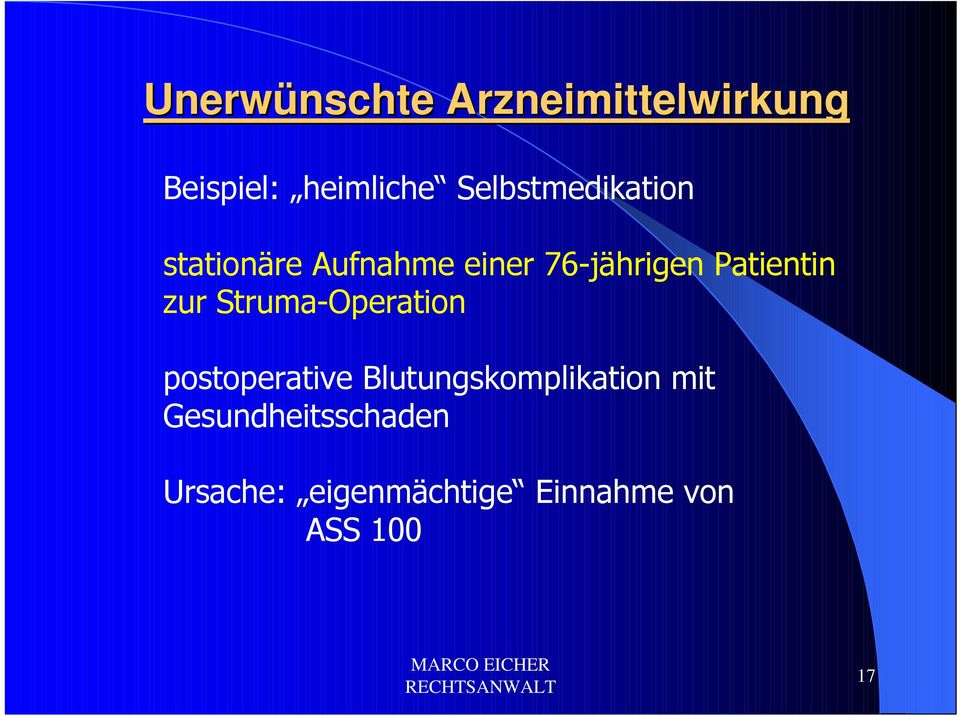 Patientin zur Struma-Operation postoperative