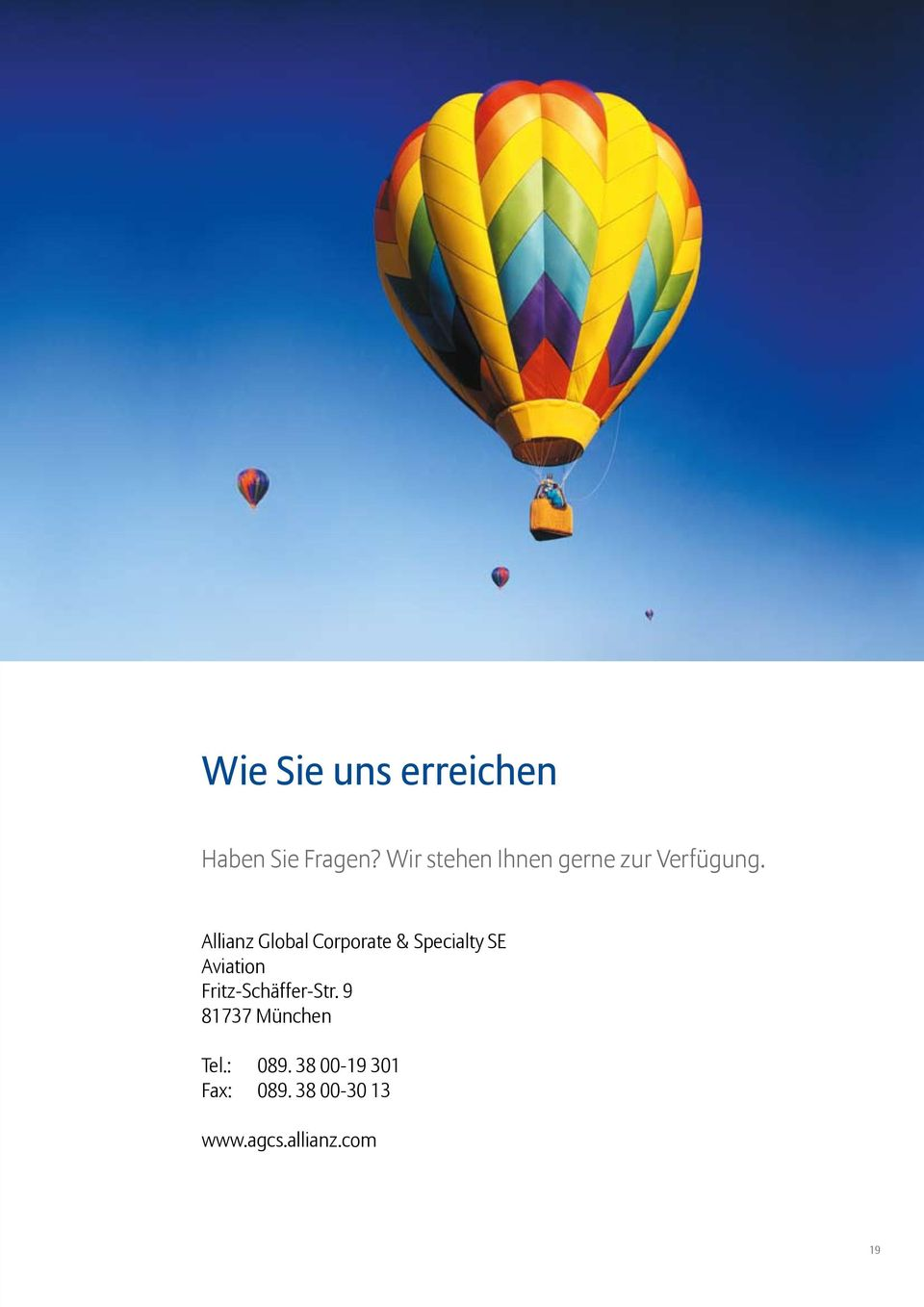 Allianz Global Corporate & Specialty SE Aviation