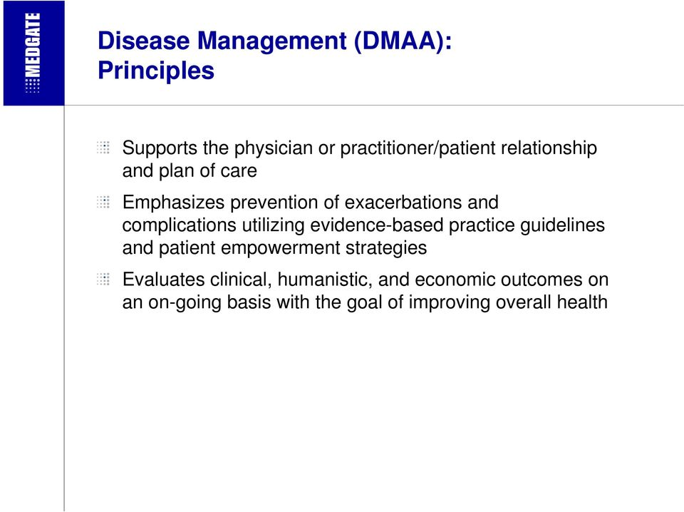 utilizing evidence-based practice guidelines and patient empowerment strategies Evaluates