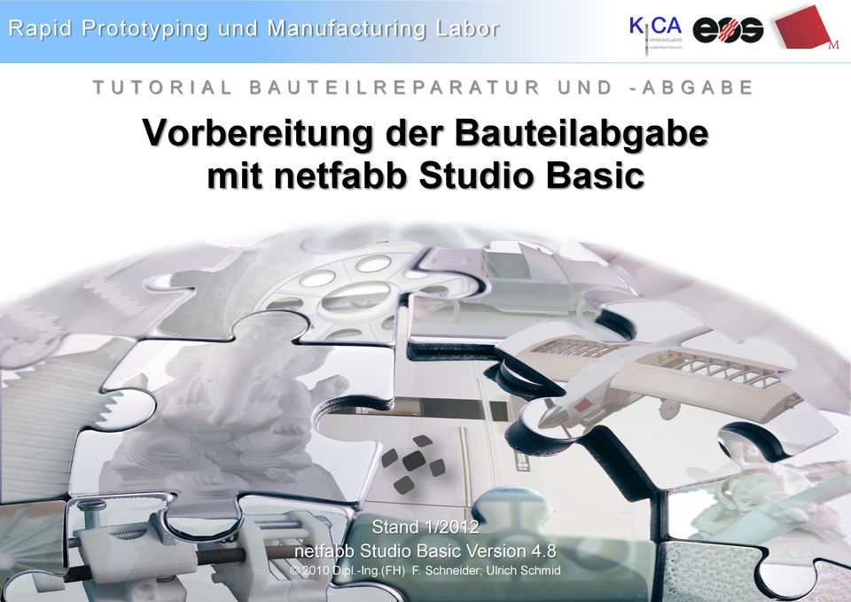 1/2012 netfabb Studio Basic Version 4.8 Tutorial 2010 Dipl.-Ing.