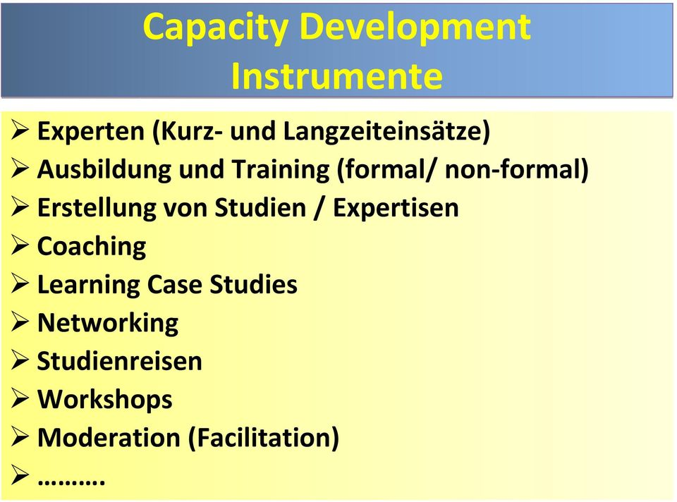 formal) Erstellung von Studien / Expertisen Coaching