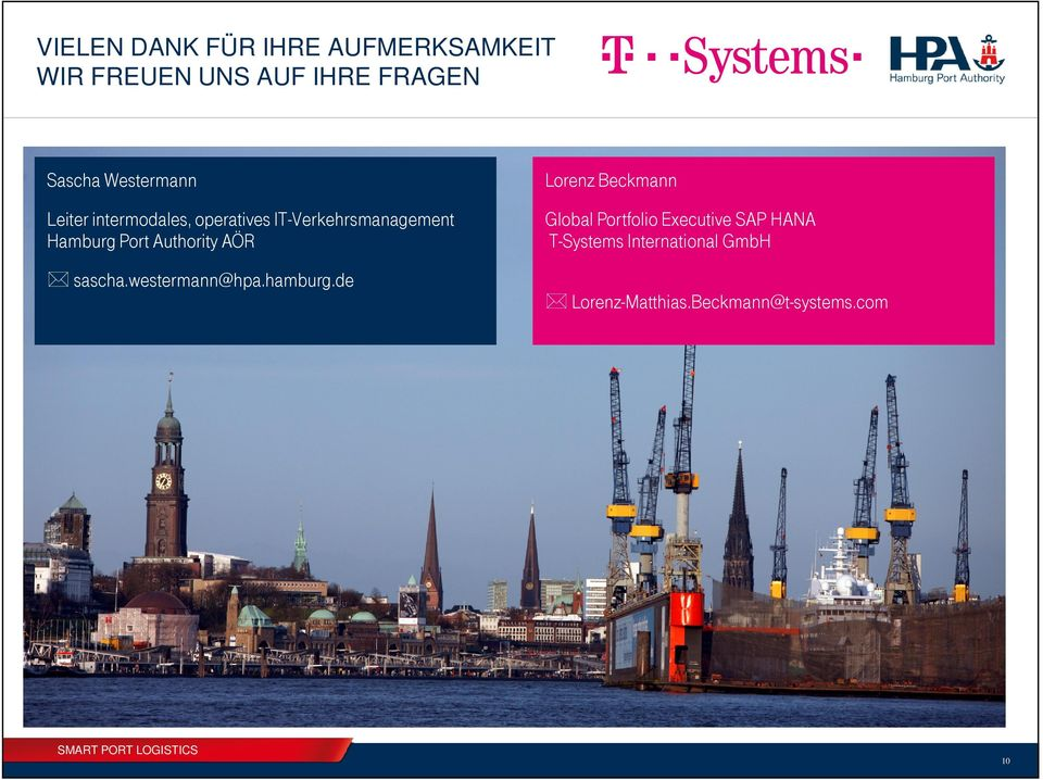 Hamburg Port Authority AÖR Global Portfolio Executive SAP HANA T-Systems