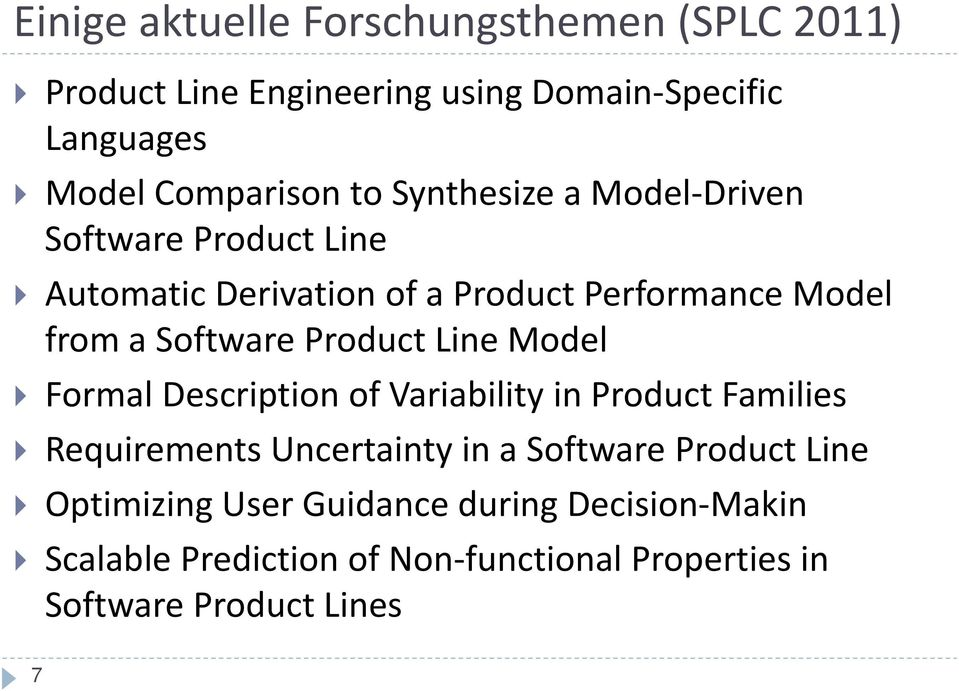 Product Line Model Formal Description of Variability in Product Families Requirements Uncertainty in a Software Product