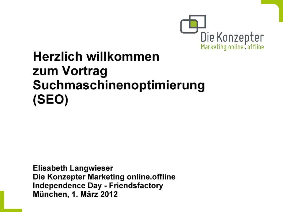 Langwieser Die Konzepter Marketing online.