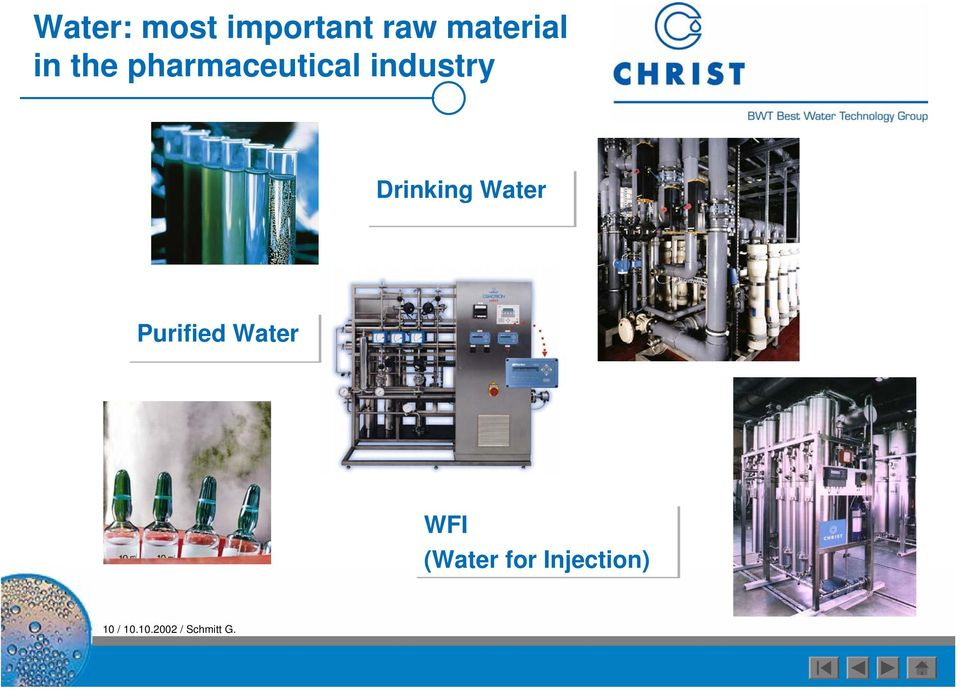 Water Purified Water WFI (Water for