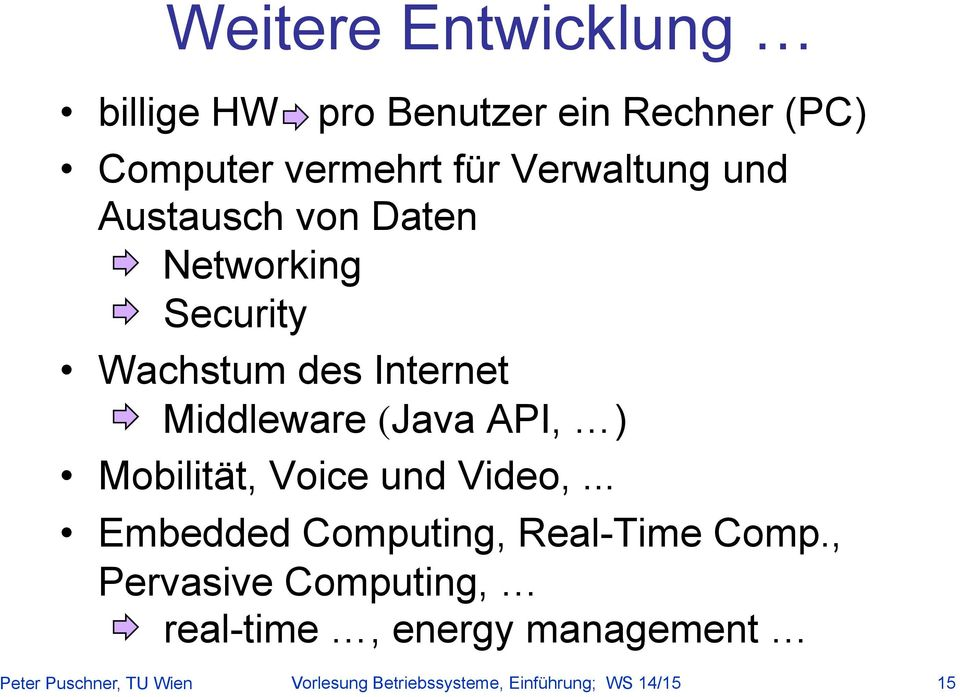 Mobilität, Voice und Video,... Embedded Computing, Real-Time Comp.