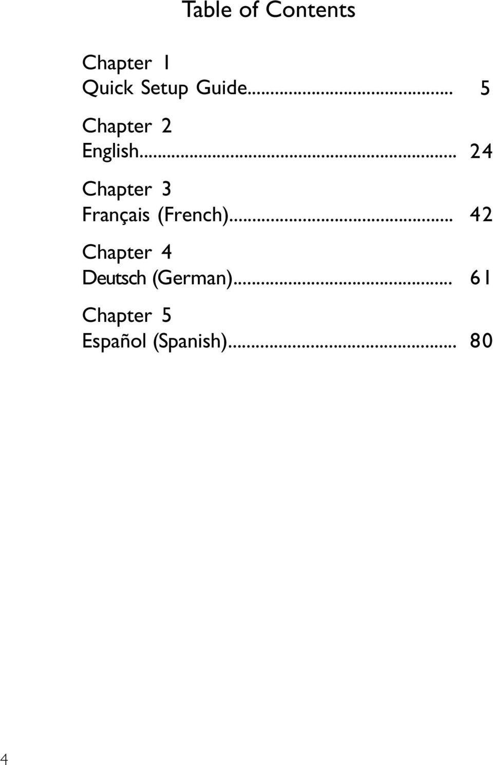 .. Chapter 2 English... Chapter 3 Français (French).