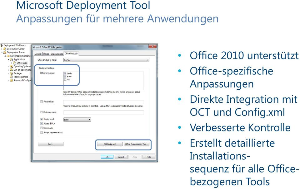 Integration mit OCT und Config.