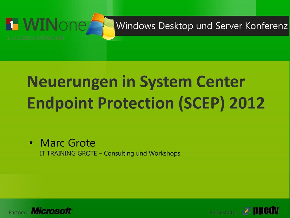 Center Endpoint Protection (SCEP) 2012