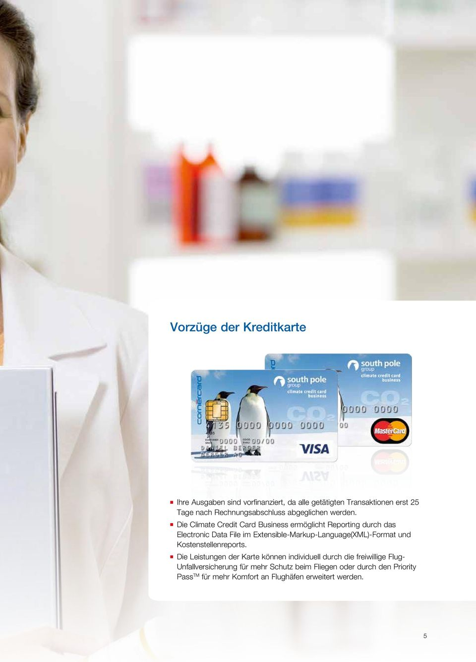 Die Climate Credit Card Business ermöglicht Reporting durch das Electronic Data File im