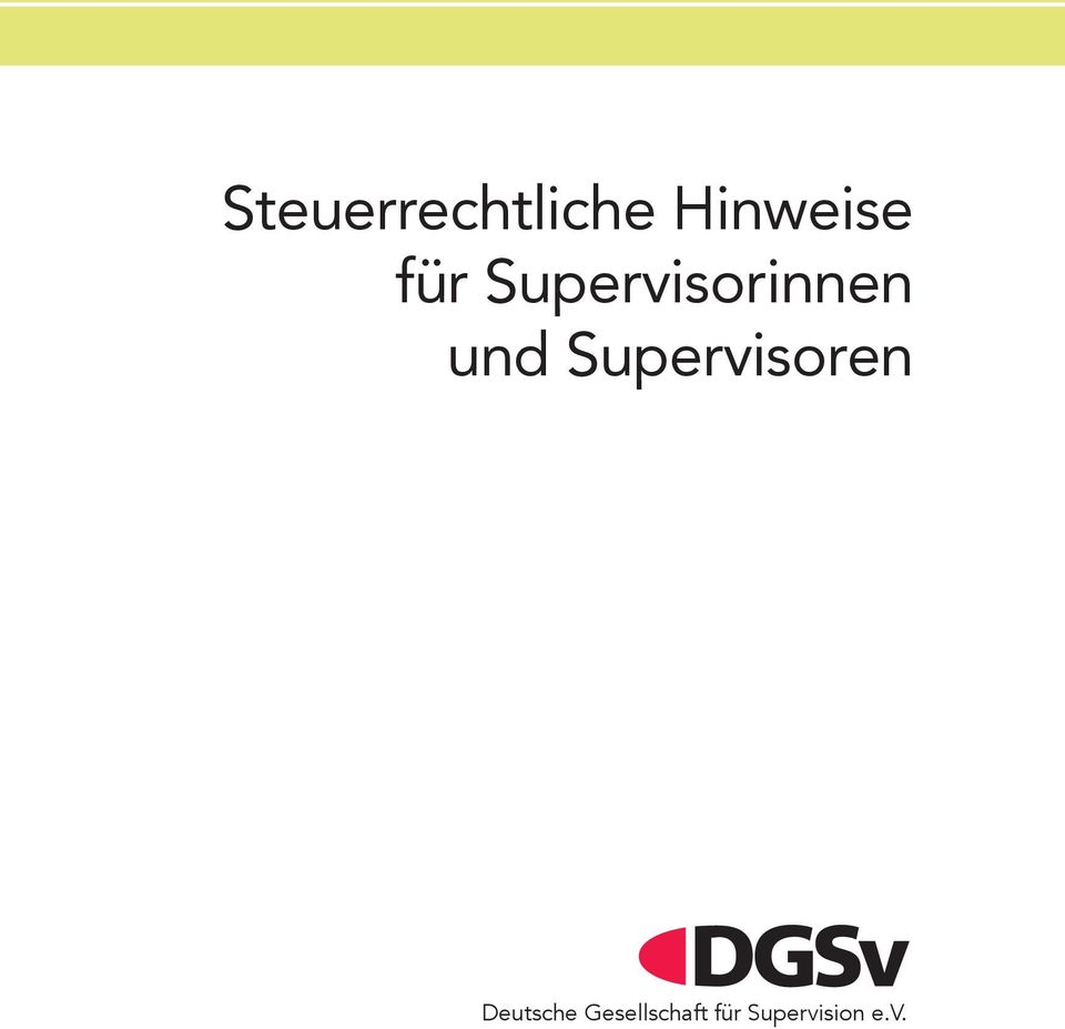 Supervisoren Deutsche