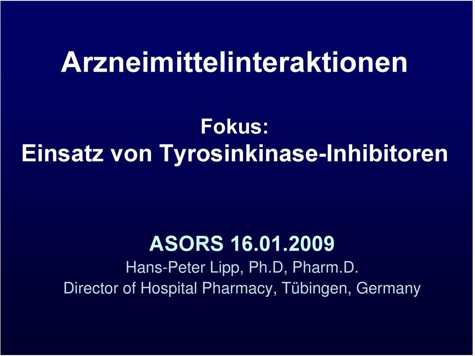 2009 Hans-Peter Lipp, Ph.D,