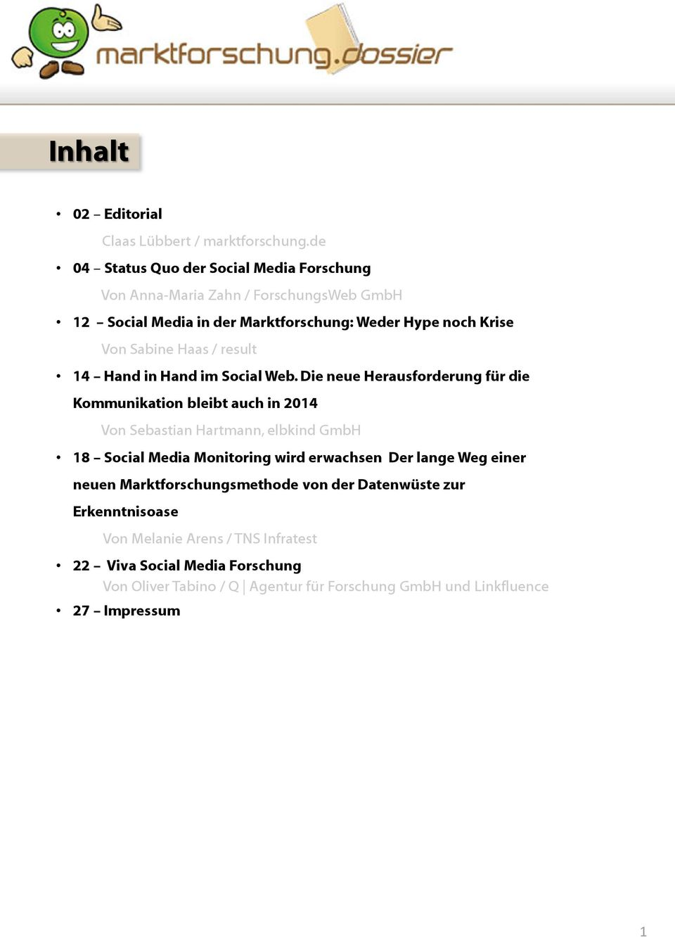 Haas / result 14 Hand in Hand im Social Web.