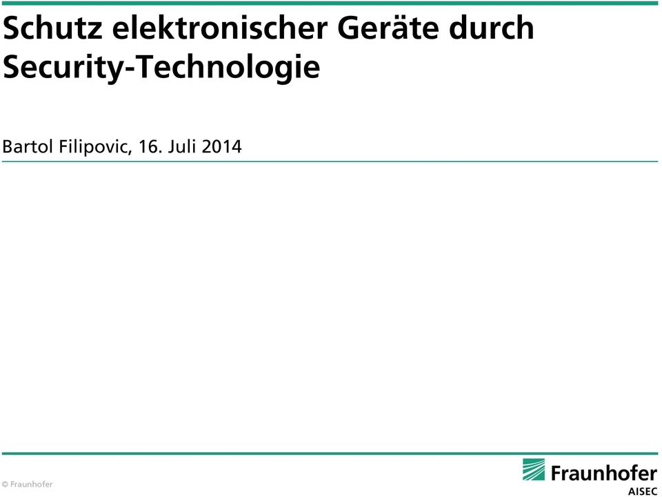 Security-Technologie