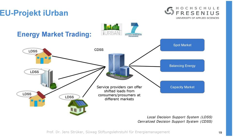 different markets Capacity Market Local Decision Support System (LDSS) Cenralized