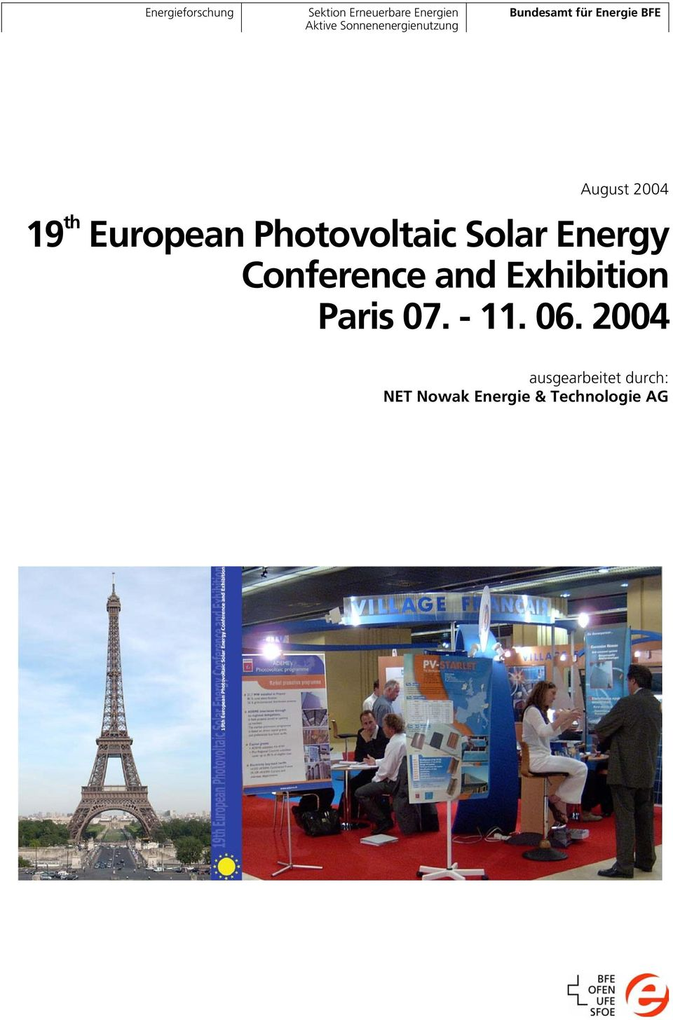 European Photovoltaic Solar Energy Conference and Exhibition