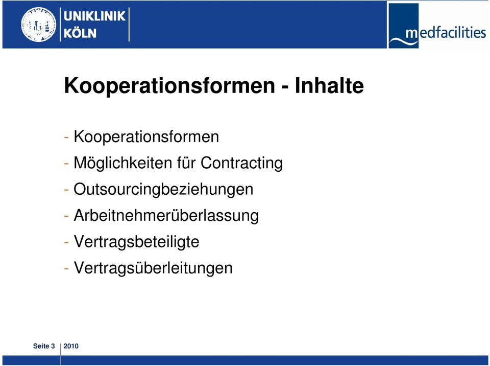 Contracting - Outsourcingbeziehungen -