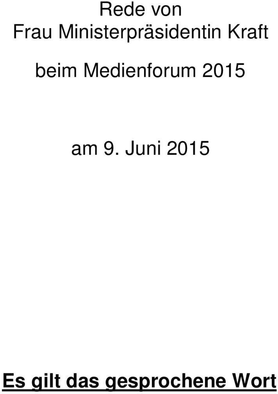 beim Medienforum 2015 am 9.