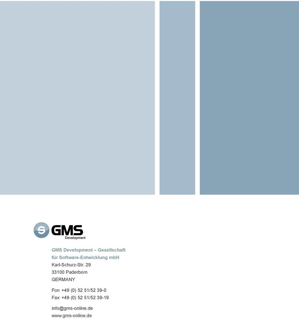 29 33100 Paderborn GERMANY Fon +49 (0) 52 51/52