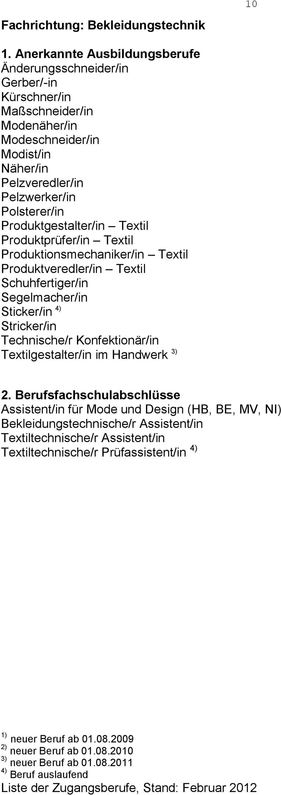 Produktveredler/in Textil Schuhfertiger/in Segelmacher/in Sticker/in 4) Stricker/in Technische/r Konfektionär/in Textilgestalter/in im Handwerk