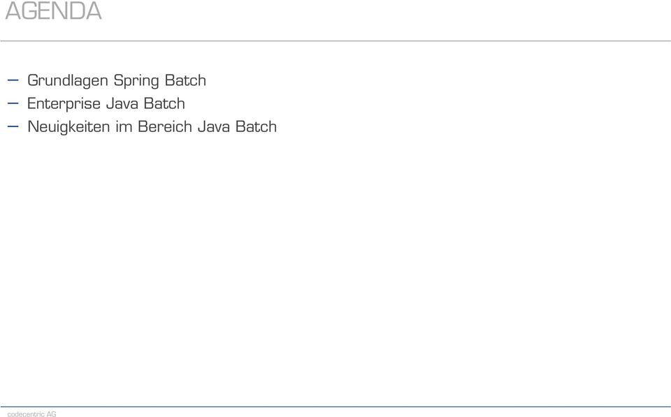 Enterprise Java Batch