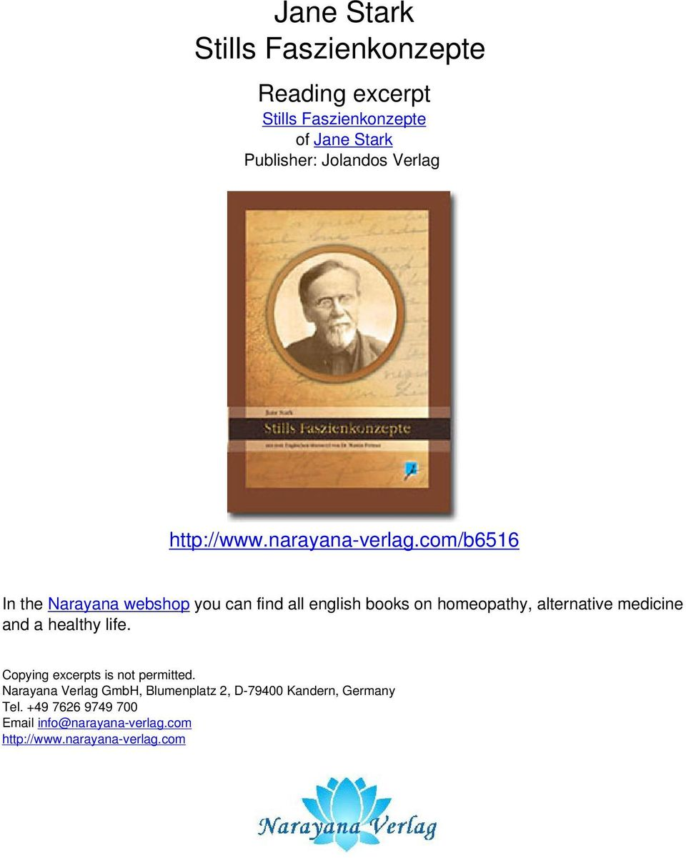 com/b6516 In the Narayana webshop you can find all english books on homeopathy, alternative medicine and a