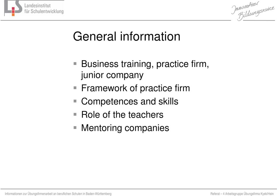 of practice firm Competences and skills