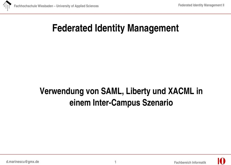 XACML in einem Inter Campus