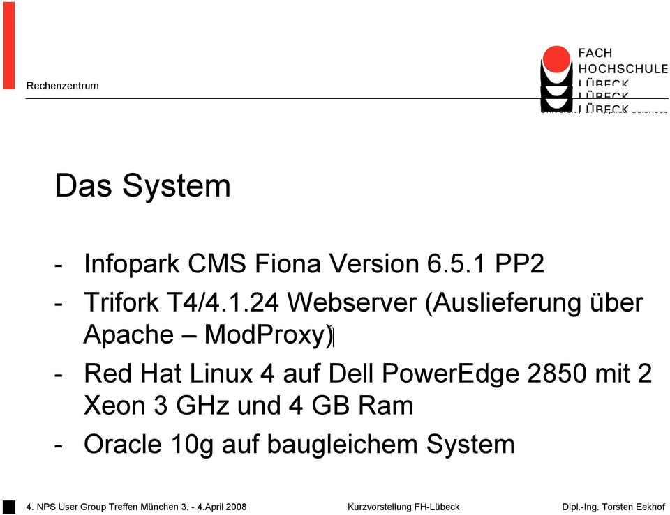 ( ModProxy Apache - Red Hat Linux 4 auf Dell PowerEdge