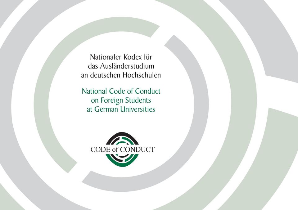 Hochschulen National Code of Conduct