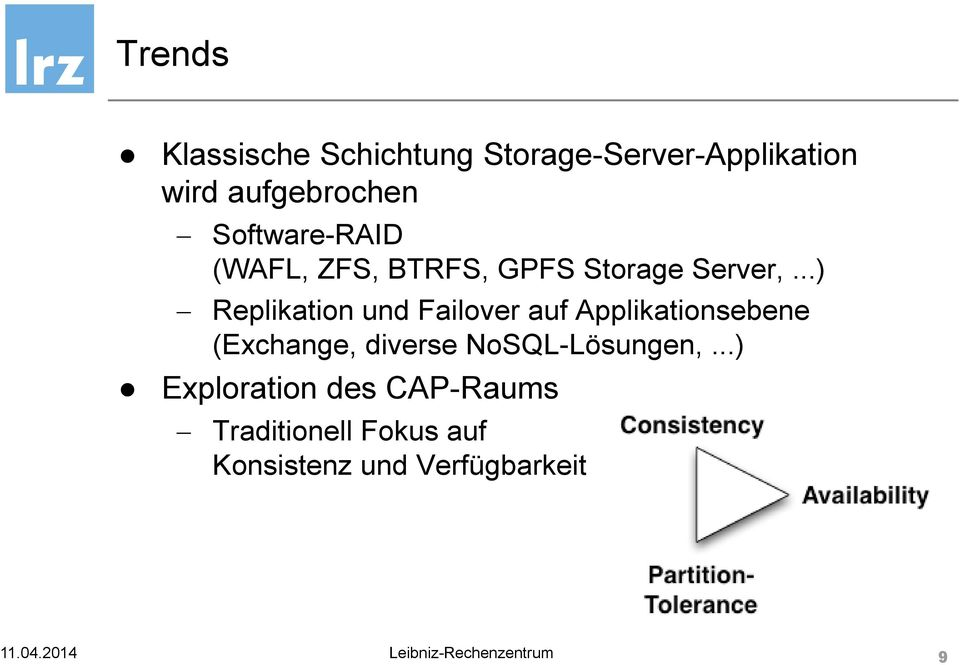 ..) Replikation und Failover auf Applikationsebene (Exchange, diverse