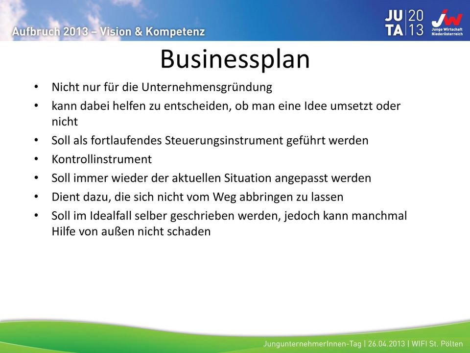 i2b business plan handbuch fire