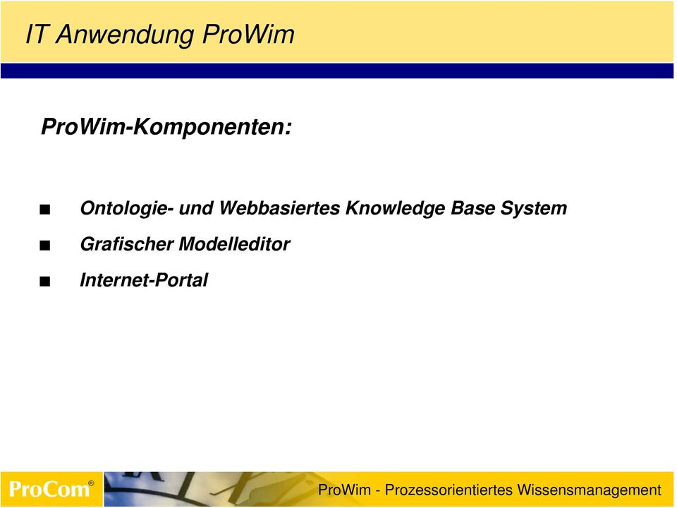 und Webbasiertes Knowledge Base