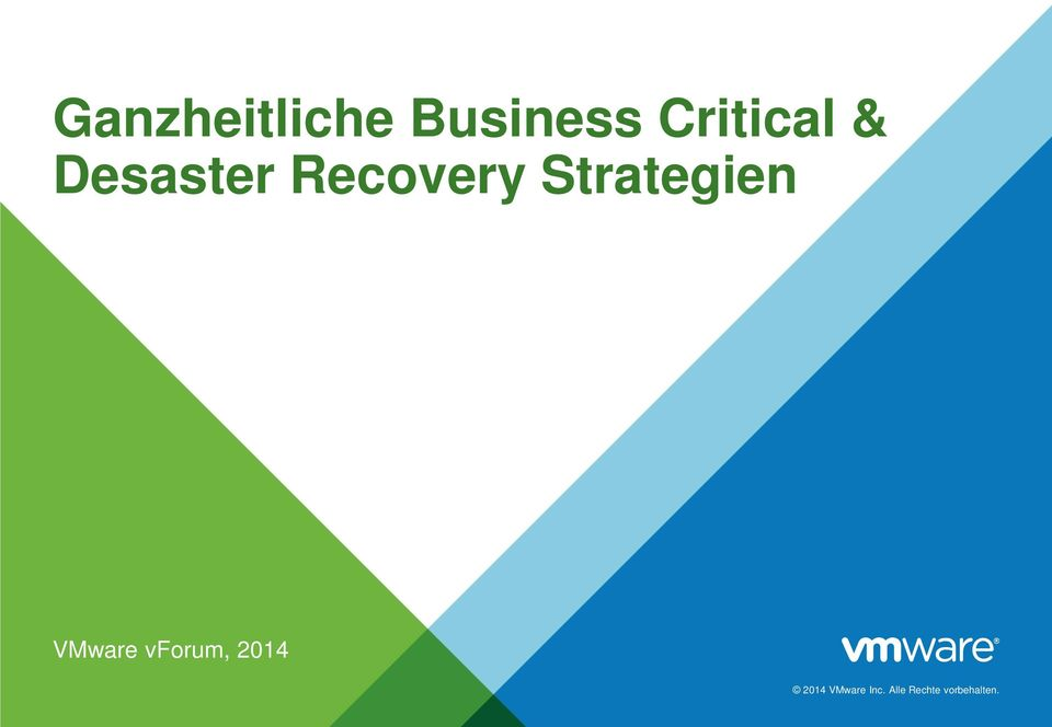 Strategien VMware vforum, 2014